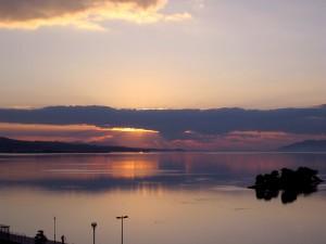 宍道湖・夕陽